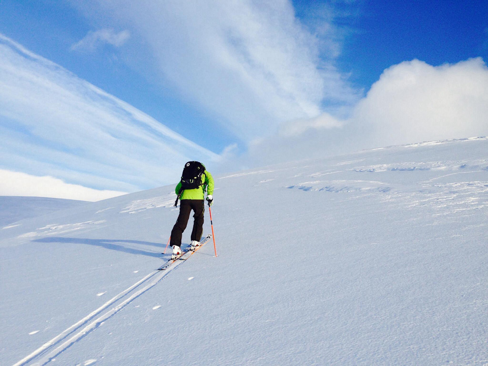Ski touring in the Cairngorms